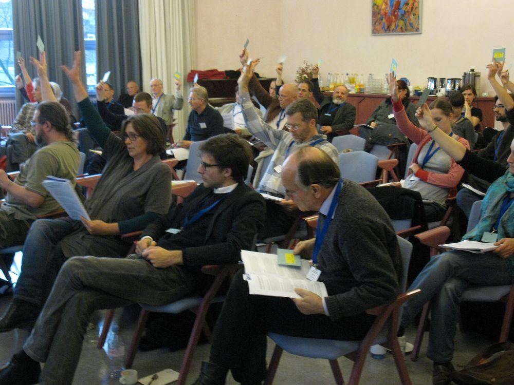Bild von der Mehr Demokratie Mitgliederversammlung  am 6. November 2010