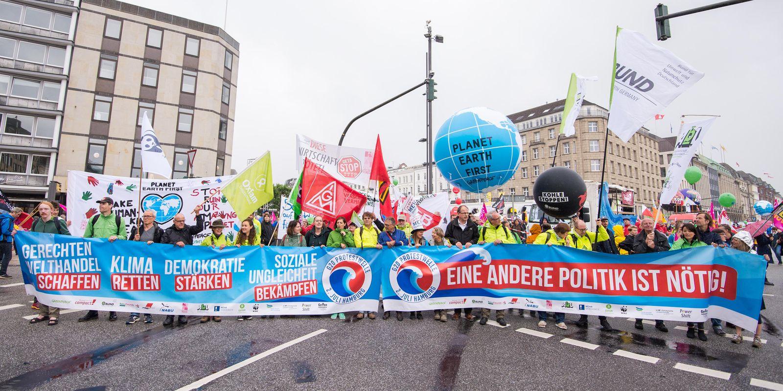 G20 Demo Hamburg 3.7.2017