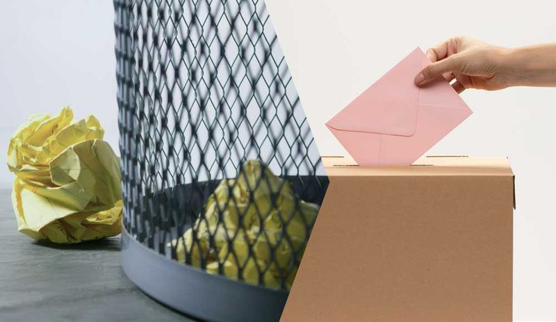 Landen die Ideen der Bürgerräte im Mülleimer der Politik oder entscheiden die Bürger:innen selbst? © Steve-Johnson unsplash + freepik.com.