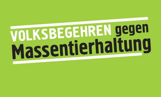 Plakat Volksbegehren gegen Massentierhaltung Brandenburg