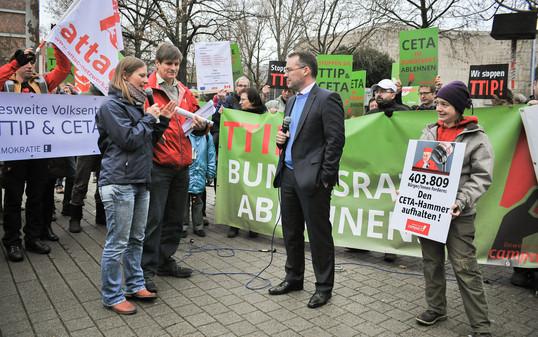 Foto einer CETA-Aktion in Baden-Württemberg