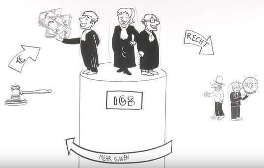 Karikatur zum ISDS-Reformvorschlag