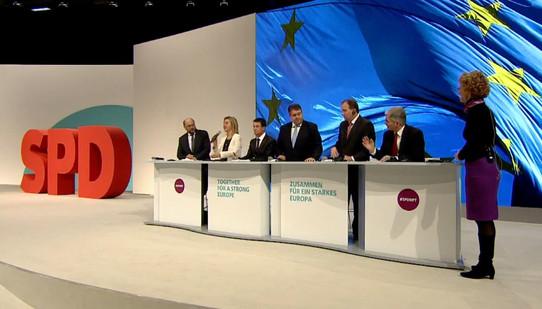 Screenshot der Liveübertragung vom SPD-Bundesparteitag
