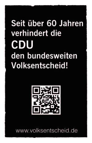 Mehr Demokratie E V Visitenkarte Statt Flugblatt Als